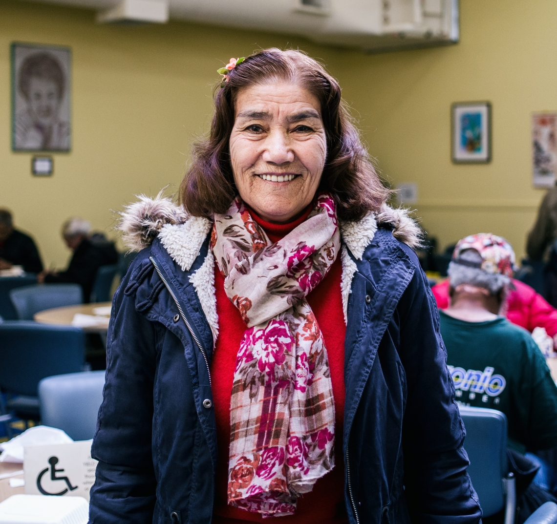 Project Open Hand client Orazgul, from Turkmenistan, is one of the hundreds of San Francisco senior who benefits from our daily meals services.